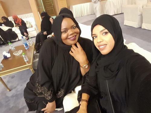 Natasha and friend in Saudi Arabia