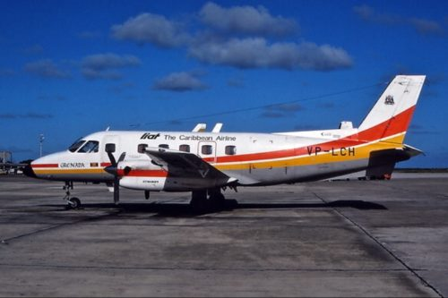 The actual aircraft Captain Liz flew with LIAT when she started flying.
