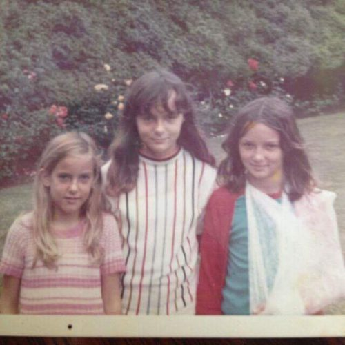 Liz with her siblings in 1974.